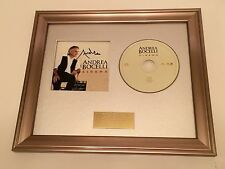 PERSONALLY SIGNED/AUTOGRAPHED ANDREA BOCELLI - CINEMA FRAMED CD PRESENTATION.