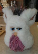 2005 Furby white pink grey with blue eyes 59294 Tiger Electronics WORKS