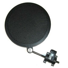 Flexible Studio Microphone Mic Wind Screen Pop Filter Mask Shied Black Color