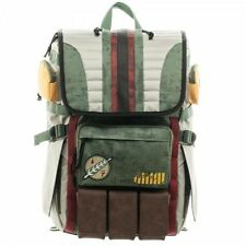 Star Wars Boba Fett Mandalorian Logo Bouty Hunter Laptop Backpack Bag - NEW!