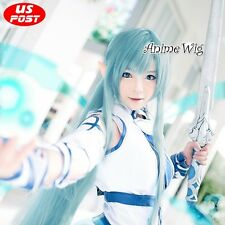 Sword Art Online Asuna 80CM Long Light Blue Hair Anime Women Fashion Cosplay Wig