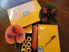 Japanese wooden lacquered plate 6 set w/box; lacquer ware/ Trays, Plates, Napkin
