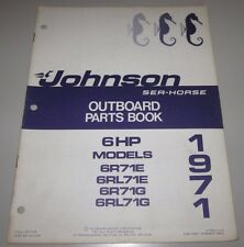 Parts Book Johnson Sea Horse Ersatzteilkatalog 6 HP 6R71E / 6RL71E / 6R71G 1971