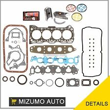 92-01 Suzuki GEO Chevrolet 1.6 G16KV Full Gasket Set Bearings Piston Rings
