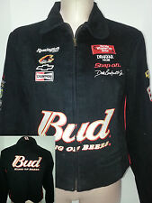 NWT DALE EARNHART #8 Chase Nascar Womens Racing Jacket Coat Black Sz L Large
