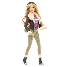 2013 BARBIE STYLE DOLL in Faux Leather Jacket w Fur Trim ~FULLY POSEABLE!~ NEW