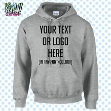 Custom Personalised Men's Printed HOODIE Name Funny Work Stag Do-Your text/logo2