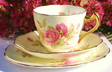 Pink Rose Teacup Saucer Trio English China Trentham Pretty set Tea Party High Te