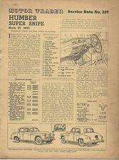 Humber Super Snipe Mk IV 1953 Motor Trader Service Data No. 209
