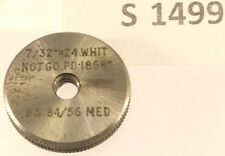 "S1499 7/32"" -24 Calibre Anillo de rosca whitworth no ir, sin usar"