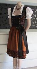 NEW ^German^^Austrian^ style 3pc. Dirndl Dress+ Apron raised velvet  L (14)