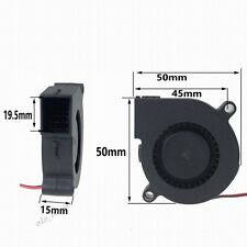 12V 2Pin 50mm 50x15mm DC Turbine Blower Fan Computer Industry Cooler Cooling Fan