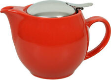 NEW ZERO JAPAN UNIVERSAL TEAPOT CREAMER TEA COFFEE KETTLE CUP 450ML TOMATO RED