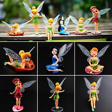 6pcs Tinker Bell Fairies Figures PVC Cake Topper Secret Wing Girl Party Toy