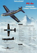 Prospekt Flugzeug Pilatus PC-9M Advanced Turbo Trainer 2000 brochure prospectus