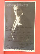 Autografo autograph sconosciuto unknown 22 cinema lirica BENVENUTE INDICAZIONI