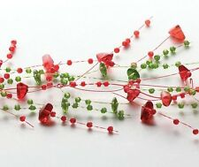 Spray Beaded Garland - Holiday Red / Green -Perfect Decoration for the Holidays!