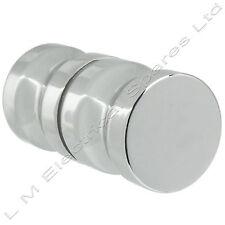 Chrome Metal 30mm Single Groove Glass Shower Cabinet Door Handle Knob