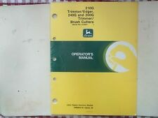 JD Operators Manual for 210G Trimmer/Edger 240G & 260G Trimmer/Brush Cutters
