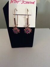 $30 BETSEY JOHNSON  FALL FOLLIES LAVENDER & PINK FLOWERS PC 7