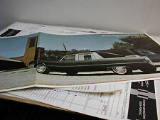 1966 SUPERIOR CADILLAC HEARSE MODELS COLOR 4 PAGE FOLDER MINT