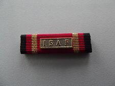 (US-BW)   Ordensspange US Format Ribbon Bundeswehr Einsatzmedaille ISAF gold