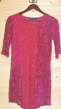 GUDRUN SJODEN TUNIC DRESS SIZE M PLEATED FRONT DETAIL VISCOSE