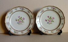 Pair of Qianlong Chinese 1736-1795 Famille Rose Plates / Dishes Porcelain