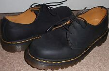 Dr Doc Martens Size Womens 7 Mens 6 Black 3 Eye Low Top Matte Leather Boot Shoes