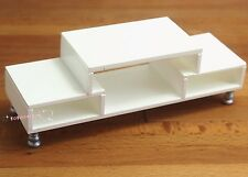 Dollhouse Miniature 1:12 Toy Furniture White Wooden TV Cabinet L11.9cm SPO271