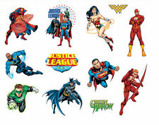 """Justice League Stickers Decal Sheet Sticker Adhesive DC Comics 5.75"""" x 4"""" NEW"""