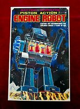 Vintage 70s Piston Action Engine Robot W/ Box Horikawa SH NIB
