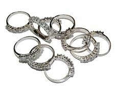 10 x Sterling Silver & Gem Set ½  Eternity Rings - Job Lot