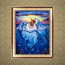 Dolphin 5D Diamond DIY Painting Cross Stitch Craft Kit Home Wall Decoration