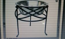LARGE DOG BOWL & FEEDER - DESIGNED WITH A STYLISH MESH and has an ELEVATED STAND