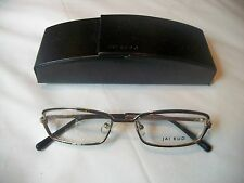 JAI KUDO 491 M06 Ladies Eyeglass Frames Black & Gold Metal New with Case FAB