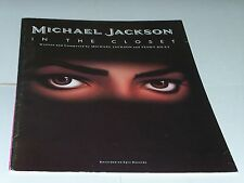 Michael Jackson sheet music In the Closet 1992 10 pages (VG+ shape)