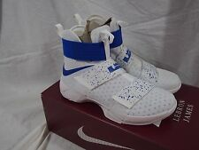 Nike Zoom Air Lebron James X 10 Soldier Hyper Cobalt Blue and White 844374-64
