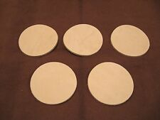 "(100) Veg Tan Cowhide Tooling Leather 3"" Circles for Crafts Tack Coasters"