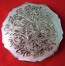 STRATTON Hand Engraved SP Ladies Powder Compact 1940-50s Great Condition!