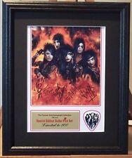 Black Veil Brides Preprinted Autograph & Guitar Pick Display Mounted/Framed SALE