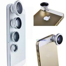 4in1 Fish Eye+Wide Angle Macro Telephoto Lens Camera for iPhone 4 5 5S 6 Plus