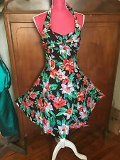 ❤ LOT 80s Vintage Floral Cotton Hawaiian Tulle Uptown Girl Prom Party Dress Lot