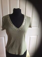 NEXT MOTHER OF PEARL BUTTON TOP SIZE 12