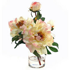 FLOWER ARRANGEMENTS - CREAM PEONY WATER FLORAL - SILK FLORAL ARRANGEMENT