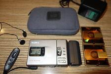 Sony r30 MD MiniDisc + remote + ACCESSORI battfach AA (764)