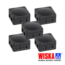 5x Wiska COMBI 308/5 Weatherproof Outdoor Junction Box Black IP66 5 PACK