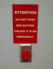 Old Photo.  Warning: Do Not Push Red Button Red Button