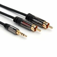 KabelDirekt 2m Y Adapter Cable 3.5mm Male > 2 RCA Male - PRO Series