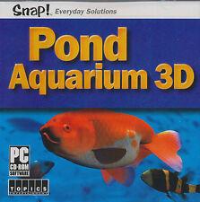 POND AQUARIUM 3D Screen Saver Fish Screensaver PC NEW